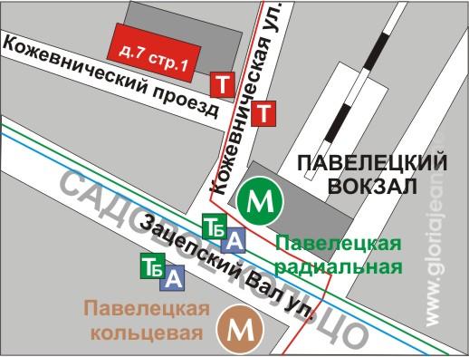 Карта проезда к магазину